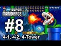World 4-1, 4-2, 4-&quot;Freezing-Rain&quot; Tower - Wii U 100% Star Coins Walkthrough