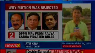 Congress slams Naidu's decision to reject move; to challenge VP's order in Supreme Court - NEWSXLIVE