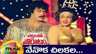 Chattamtho Poratam Telugu Movie Songs | Nenoka Chilakala Telugu Video Song | Chiranjeevi | Sumalatha - MANGOMUSIC