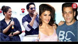 Ayushmann-Sanya At Bennett University | Salman Defends Jacqueline's Recreated 'Ek Do Teen' Song - ZOOMDEKHO