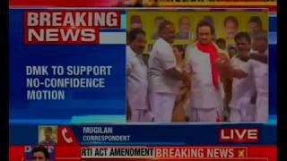 DMK to support no-confidence motion, urges AIADMK to vote against BJP - NEWSXLIVE