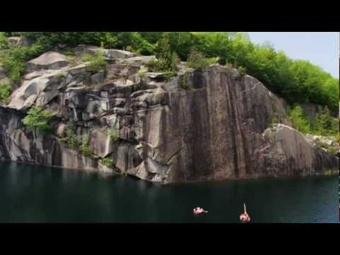 Vermont Cliff Jumping : Monster Quarries