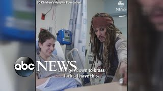 Johnny Depp shows up as Capt. Jack Sparrow at children's hospital - ABCNEWS