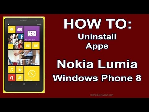 How to: Uninstall Apps on Nokia Lumia Windows Phone