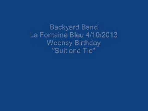 Backyard Band La Fontaine Bleu 4/10/2013 Weensy Bday