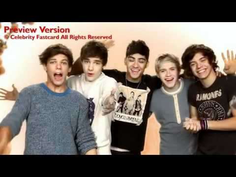 One Direction Celebrity Fast Card - Thanksgiving