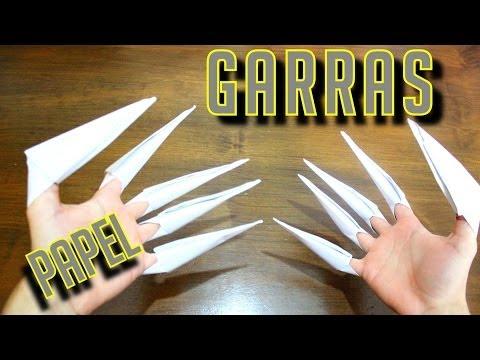 Como fazer garras de papel!