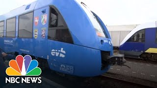 The World's First Hydrogen-Powered Passenger Train Debuts In Germany | NBC News - NBCNEWS