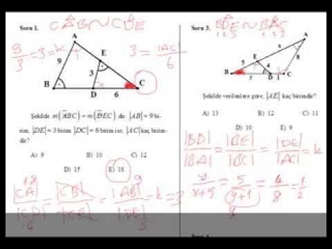 Üçgende Benzerlik Soru Çözümü 1-geometri