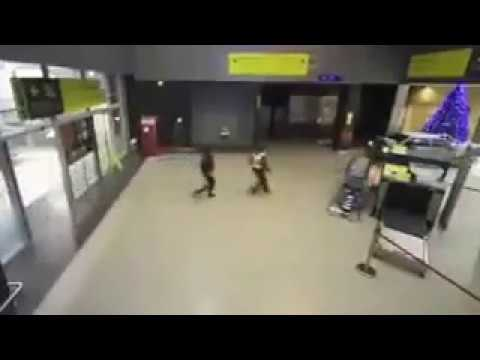Drunk driver been chased by cops and tried to escape through airport.