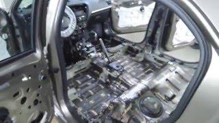 Шумоизоляция Peugeot 301, днище из фольги