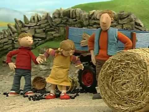 Czerwony traktorek  Na jeżyny...