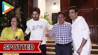 Sidharth Malhotra and Karan Johar Spotted at Ministry Cave, Khar - HUNGAMA