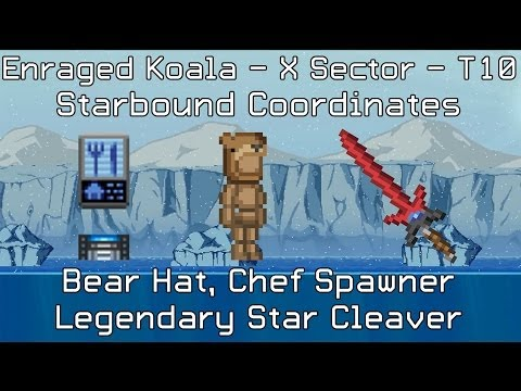 Starbound Coordinates [X][T10]: Bear Hat, Legendary Star Cleaver, Chef Spawner