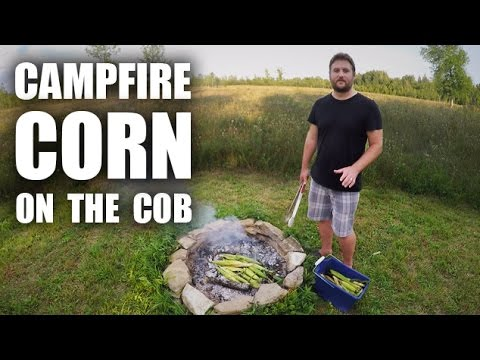 GGC - 63 - Cooking Homegrown Corn On A Campfire