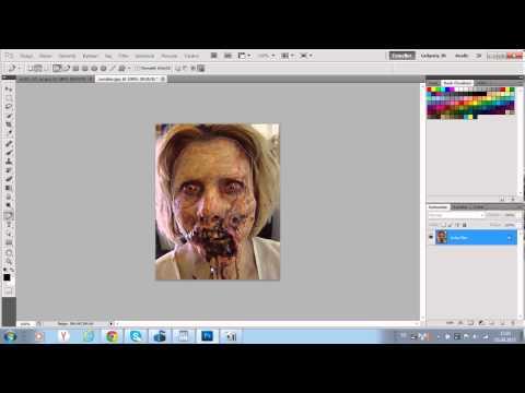 Как сделать зомби в фотошопе cs5
