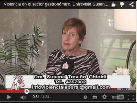 Violencia en el sector gastronómico. Entrevista Susana Treviño. 17 12 14