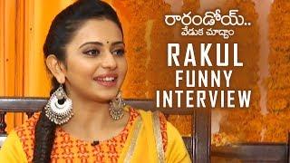 Rakul Preet Singh Funny Interview About Rarandoi Veduka Chuddam | TFPC - TFPC
