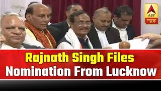 Rajnath Singh files nomination from Lucknow - ABPNEWSTV