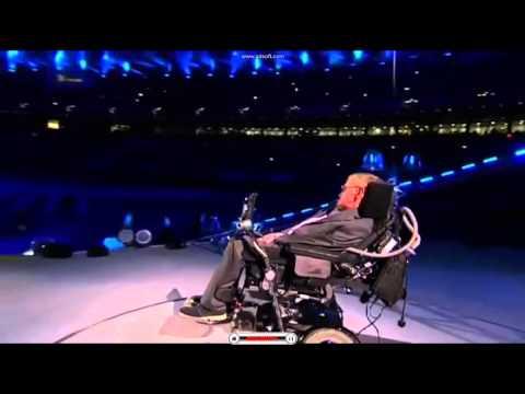 Profesor Hawking otworzył paraolimpiadę w Londynie w 2012 roku.