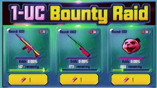 GET PERMANENT GUNSKINS IN 1 UC ONLY - PUBG MOBILE ( 1 UC BOUNTY RAID EVENT )