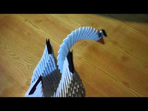 Przykładowe ozdoby papierowe - łabędź, kule, kwiaty origami