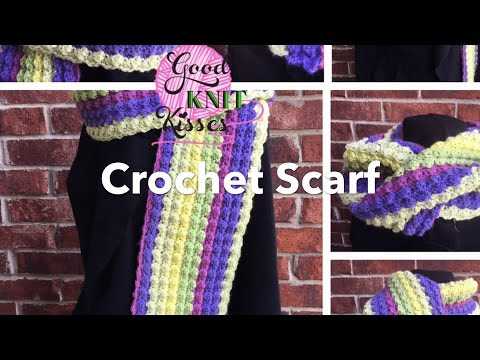 Crochet Scarf with Caron Cake (Marshmallow Crochet)