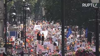 London LIVE: Rally against Trump's visit to the UK (Full HD stream) - RUSSIATODAY