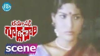 Rahasya Gudachari Movie Scenes - Krishna Finds Jaggu    Krishna    Jayaprada - IDREAMMOVIES
