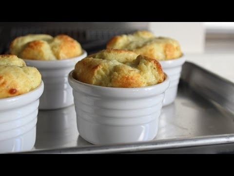 foodwishes - Apple & Cheddar Cheese Souffles - Easy Appetizer or Dessert Cheese Souffle Recipe - Learn how to make Apple & Cheddar Cheese Souffles! Go to http://foodwishes.blogspot.com/2013/10/apple-cheddar-cheese-souffles-great-for.html for the ingredient amounts, extra information, and many, many more video recipes! I hope you enjoy this easy appetizer or dessert Cheese Souffle Recipe!