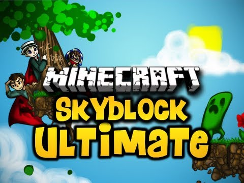 "Minecraft Skyblock ULTIMATE Ep. 4 w/ Luclin & Wolv21 ""Floating Enderman!"" (HD)"