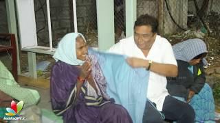 Manam Saitham team provides blankets to homeless people   Kadambari Kiran - IGTELUGU
