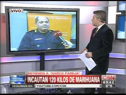 C5N - POLICIALES: DETIENEN A UNA NARCO-PAREJA QUE TENIA 120 KILOS DE MARIAHUANA