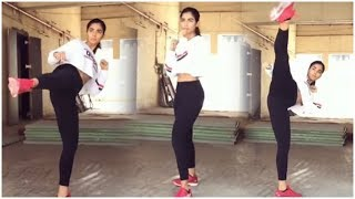 Actress Pooja Hegde Workout Video | Tollywood Updates - RAJSHRITELUGU
