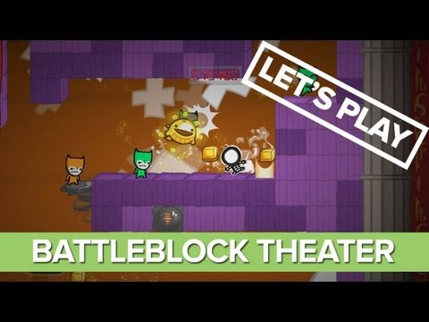 Let's Play: BattleBlock Theater - BattleBlock Theater Gameplay - XBLA