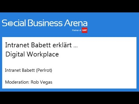 #cebitsba 2014 | Intranet Babett erklärt ... Digital Workplace