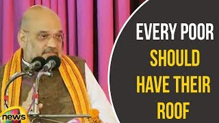 Amit Shah Says Modi government's Goal Is To Have Every Poor Should Have Their Roof | Mango News - MANGONEWS
