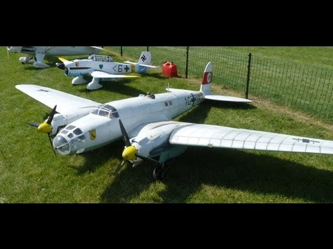 HUGE RC TWIN ENGINE HEINKEL HE 111 NAMFI 2012 SMMAC