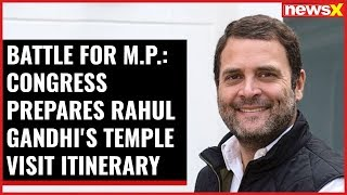 Battle for M.P: Congress prepares Rahul Gandhi's temple visit itinerary - NEWSXLIVE
