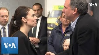 New Zealand Prime Minister Jacinda Arden Pays Tribute to First Responders of Christchurch Shooting - VOAVIDEO
