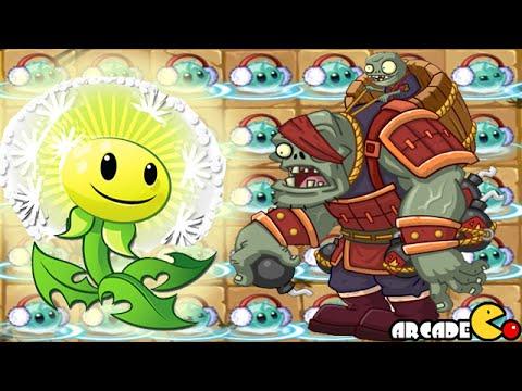 Plants Vs Zombies 2: Dandelion Vs Genernal Gargantuar Kung Fu World New Plant (China Version)