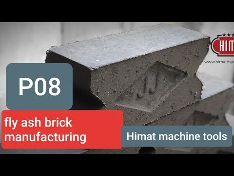 Model P08 Fly-Ash Bricks Machine - Himat Machine Tools