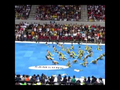 2012 UAAP Cheerdance Competition   FEU Cheering squad with Original cheermix