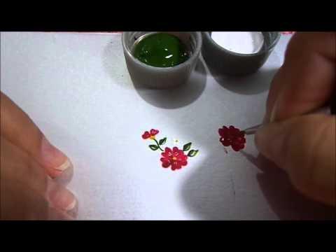 Vamos aprender mais um modelo de flor para ADESIVO de unha??