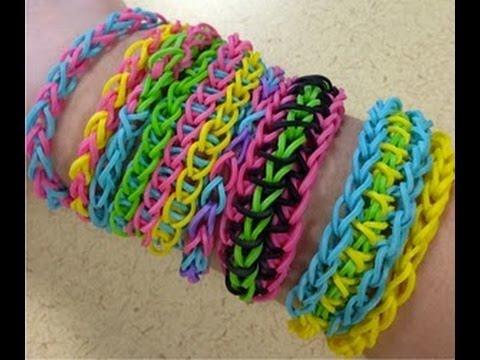 Como fazer Pulseiras de elastico Rainbow Loom