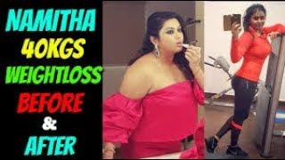 Actress Namitha Weight Loss Before & After | Namitha 40 kgs Weight Loss Journey | Namitha Workout - RAJSHRITELUGU