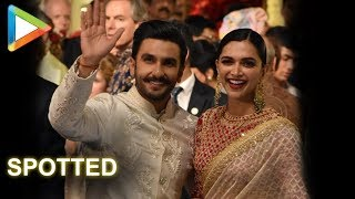 Favourite couple Deepika Padukone – Ranveer Singh grace Isha - Anand's grand Wedding Celebrations - HUNGAMA