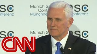 Awkward silence after Mike Pence mentions Trump in speech - CNN
