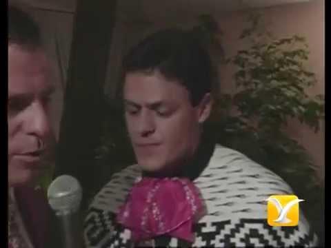Festival de Viña 1998, Backstage Paolo Meneguzzi, Oscar Gangas, Claudia Cisneros, Pedro Fernández