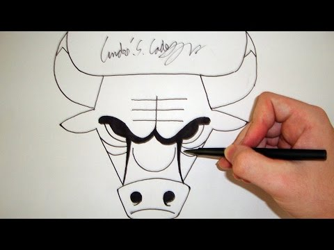 Como Desenhar a logo Chicago Bulls [NBA] - (How to Draw Chicago Bulls logo) - SLAY DESENHOS #46